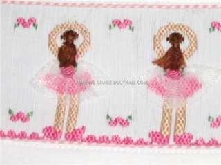 NEW VIVE LA FETE girls smocked tee shirt 7 BALLET BALLERINA dancers
