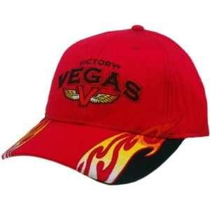 HAT CAP VICTORY MOTORCYCLES LAS VEGAS RED BLACK FLAMES