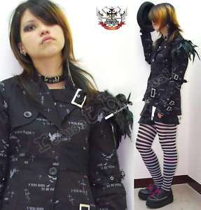 Theatrical Visual Kei/Jrock/Punk/Goth FEATHER blazer SM