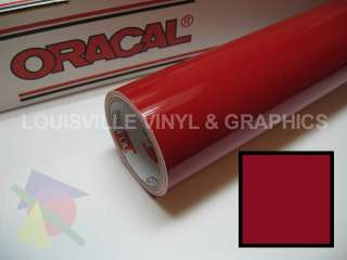 Roll 24 X 10yd Dark Red Oracal 751 Pro Cast Vinyl