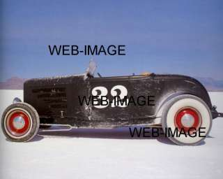 OLD HOT ROD AT BONNEVILLE SALT FLATS AUTO RACING PHOTO