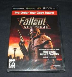 Fallout New Vegas Coasters Pack Sealed   Very RARE 3
