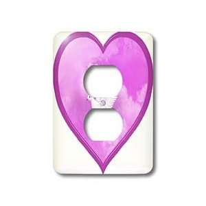 Dream Essence Designs Valentines Day   Love Dove in a pink heart, pink