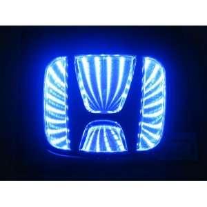2012 New style Auto 3D Blue Led car logo badge light for HONDA Classic