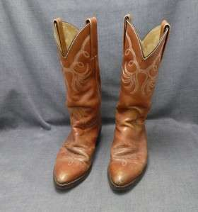 FRYE Womens 8B brown Cowboy Western Boots medium EUC