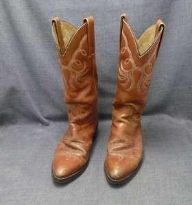 FRYE Womens 8B brown Cowboy Western Boots medium EUC