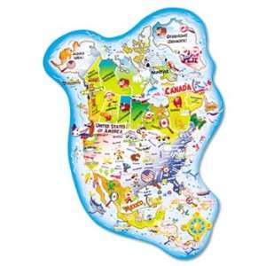 95165   Giant North America Map Floor Puzzle
