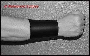 LEATHER GAUNTLET WRISTBAND BRACER BLACK METAL VENOM