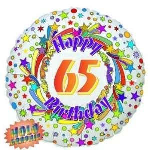 65 1 x 65th Birthday Balloon   Flat Foil Balloon   18 foil:
