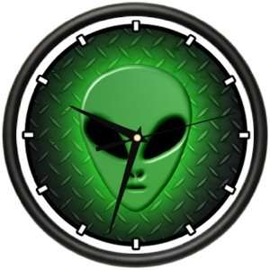 ALIEN Wall Clock area 51 space ship collector outer space planet ufo