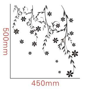 ) Willow Vine Flower Decor Mural Art Wall Sticker Decal Y343