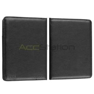 For  Kindle Touch Tablet Black Plain Folio Leather Case Pouch