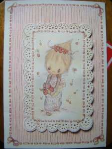 BETSEY CLARK~LARGE VALENTINES DAY GREETING CARD~VINTAGE~GLITTER