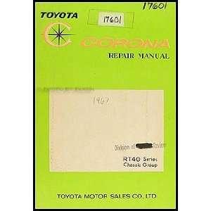 1965 1967 Toyota Corona Chassis Manual Original: Toyota: Books