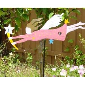Hand painted Metal Sculpture Garden Stake Yard Art 2223