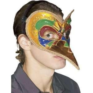 Mardi Gras Court Jester Venetian Costume Mask: Toys