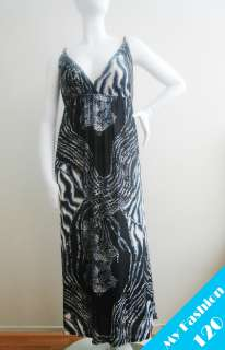 NEW Women Animal Prints Long Maxi Dress Gray Plus Size 1X 16, 2X 18/20
