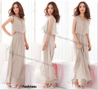 Fashion Womens Chiffon Bohemia Boho Summer Sun Beach Maxi Long Dresses