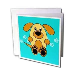 Janna Salak Designs Dogs   Cute Brown Puppy Dog   Greeting