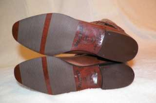 NEW Vintage Womens Brown Leather Riding Knee Tall Boho Boots Shoes 5.5