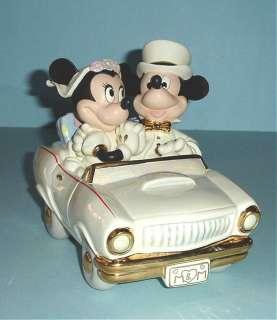 Mickey Minnies Dream Honeymoon Car Lenox Disney New in Box