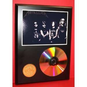 Metallica 24kt Gold CD Disc Display   Band Merch   Award