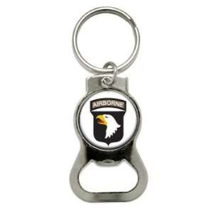 US Army Airborne   Bottle Cap Opener Keychain Ring