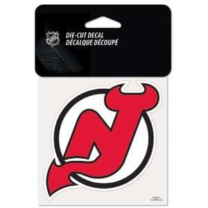 New Jersey Devils 4x4 Die Cut Decal