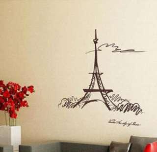 PARIS EIFFEL TOWER Decor Wall Paper Sticker Decal 058