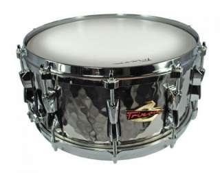 Trixon Solist Hand Hammered Stainless Steel Snare Drum Die Cast Hoop
