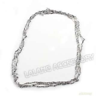 10x Wave Twist Chain Necklace 2mm + W Hook Clasp 130276