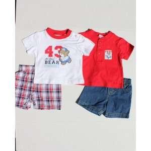 Babyworks Baby boys 4pieces set, size 6/9: Baby