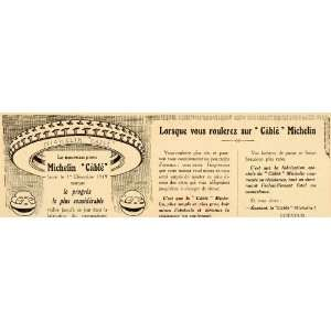 1920 Ad French Michelin Man Cable Tires Wheel Car Drive