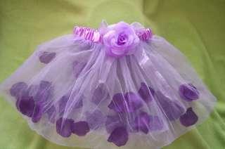 TUTU flower petals Skirt baby & girl lavender/purple