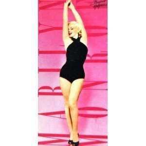 Pink Marilyn Monroe Classy Black Swim Suit Beach/ Pool