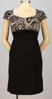 New JAPANESE WEEKEND Maternity Double Neck Black NURSING DRESS Special
