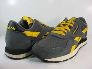 REEBOK MENS CLASSIC NYLON Grey/Gold Black  V58464  RUNNING ATHLETIC