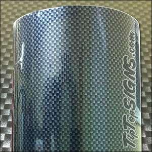2D High Gloss Black Carbon Fiber Wrap Vinyl 50 x 120