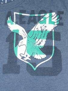 American Eagle AE Mens Overdye Blue T Shirt New NWT