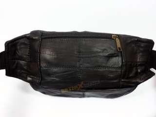 Bum/Waist Bag Black soft Leather belt Travel fanny pack