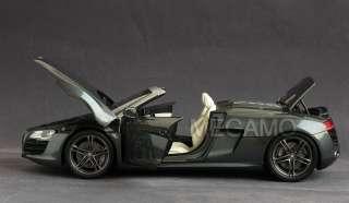 18 Kyosho Audi R8 Spyder Daytona Grey gun metal rim