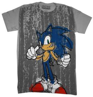 Sonic The Hedgehog Sega Graffiti Video Game T Shirt Tee