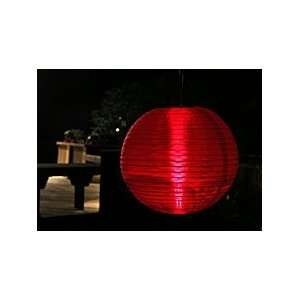 Outdoor Party Lantern Battery Operated 2 LED Red Sports & Outdoors