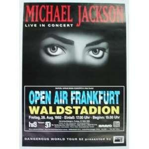 Michael Jackson Frankfurt Germany Concert Poster 1992