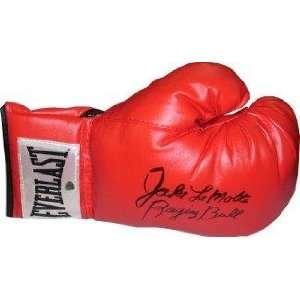 Jake Lamotta signed Boxing Glove Raging Bull  Steiner