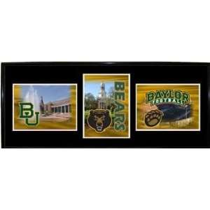 Baylor University Bears BU NCAA Triple Shot Metal Frame