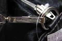1K Alexander Wang Pony Hair Calf Silver Studded Rocco Duffle Bag Black
