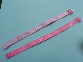 12) PINK RIBBON WOOVEN BRACELETS Breast Cancer Awareness