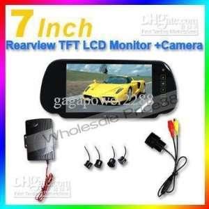 lcd touch screen car rearview mirror monitor sensor box packing sensor