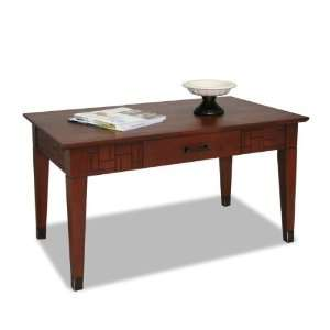 Facets Coffee Table by Leick Furniture (Merlot) (20H x 37